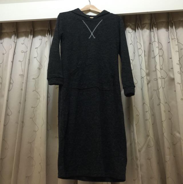 長版休閒一件式裙
