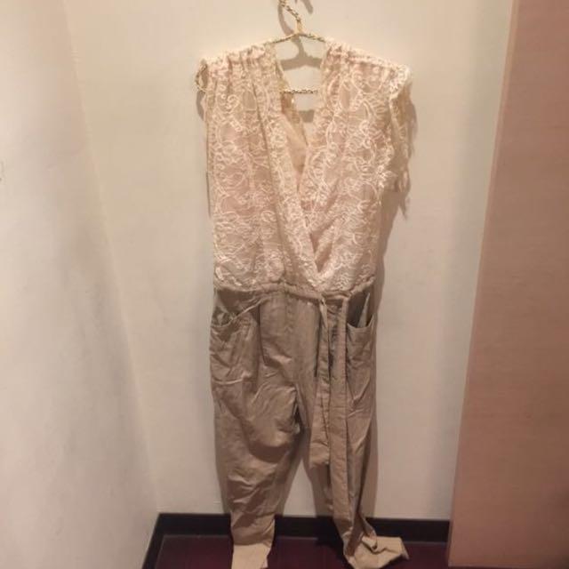 韓國質感👸🏻蕾絲連身褲 氣質必帶 此款含運特價!