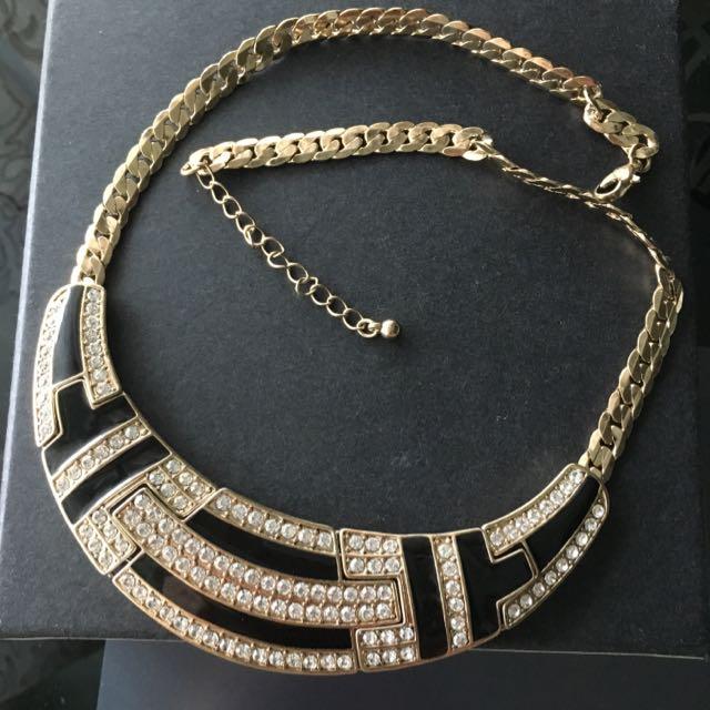 歐美品牌飾品 埃及風 金色 水鑽 波西彌亞 時尚 項鍊