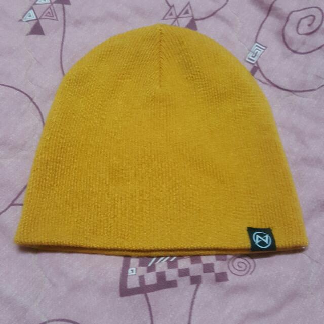 短板 毛帽 黃色 MIT台灣製 9.5成新