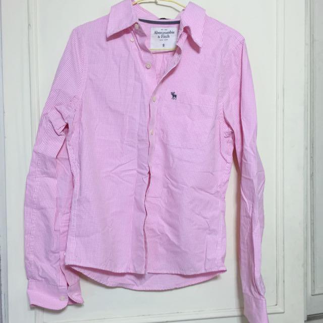 A & F 粉紅襯衫 出清500元