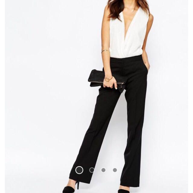 Asos Bootleg Cut Work Pants Size 12