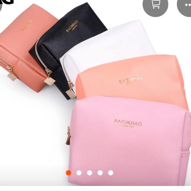🌈韓國bag In bag十字紋防潑水化妝包收納包(有分小和大)