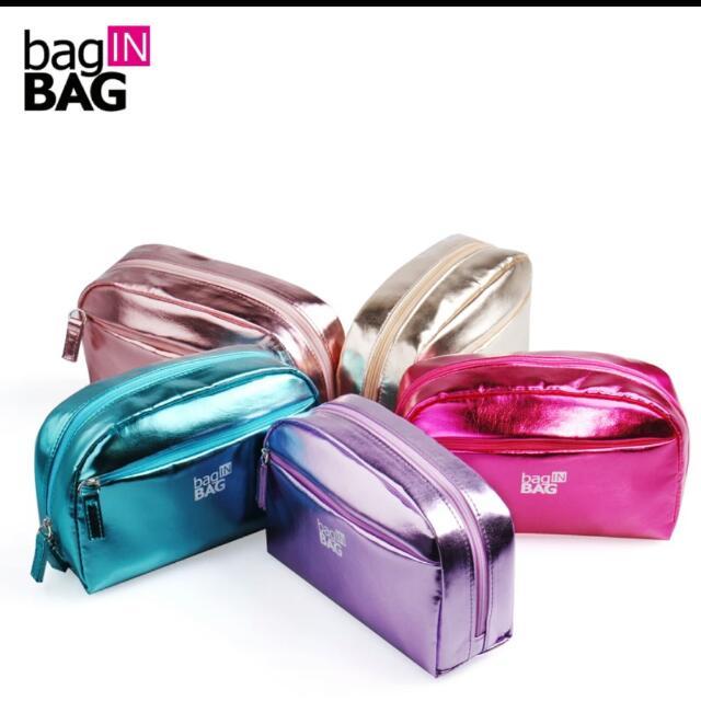🌈韓國bag In Bag 亮面包 化妝包 收納包(有分小和大)