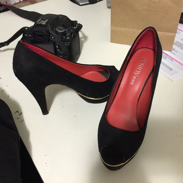 Black High Heels Josiny