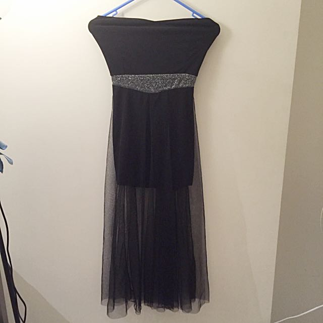 Brand New Strapless Black Dress