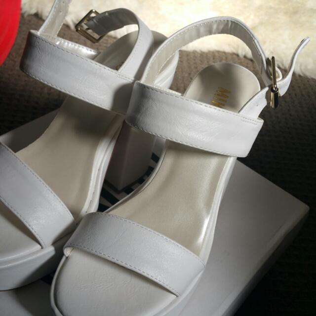 Brand New Mikoa Heels. White Pair