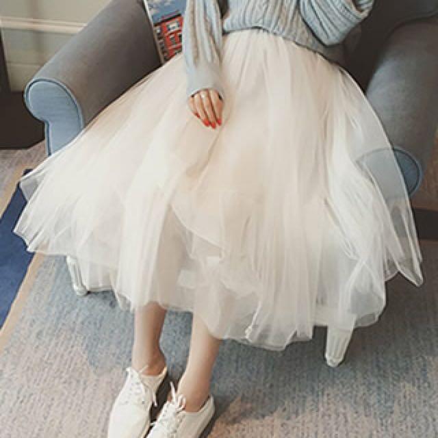 BS三月新品  韓版網紗半身蓬蓬裙91A3(30205)