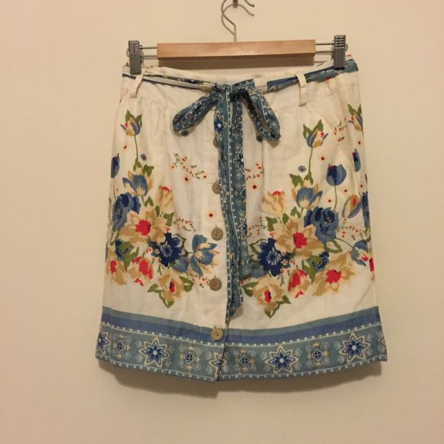 Floral Cotton Skirt Sportsgirl Size 6/8