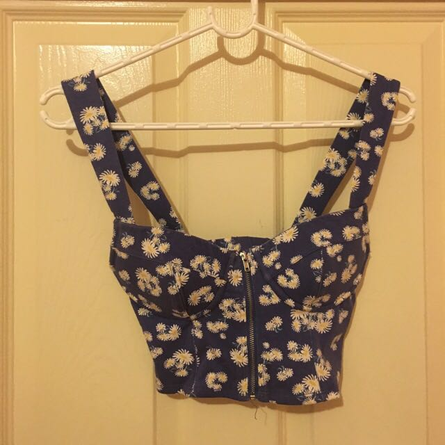 Forever New Floral Bustier Top