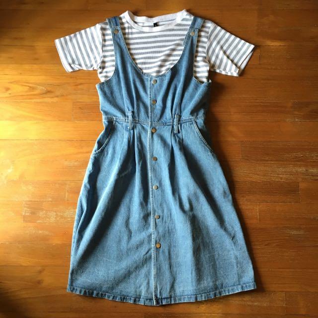 Korean Dungaree Dress