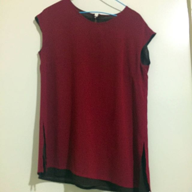 Maroon Short Sleeve Top