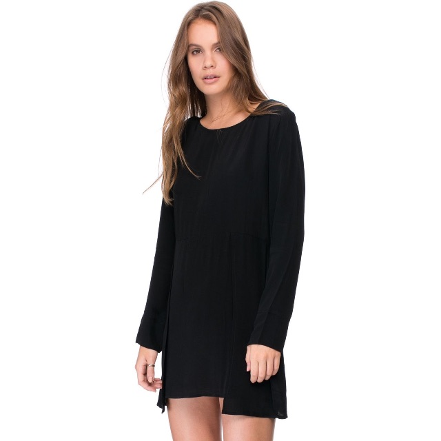 May The Label - Hope long sleeve Dress - Black size 10