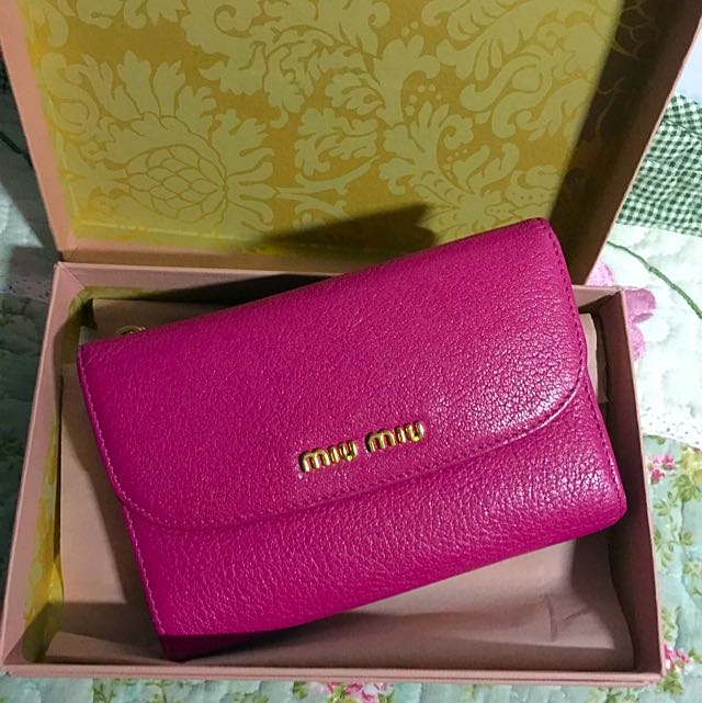 Miu Miu Dark Pink Wallet