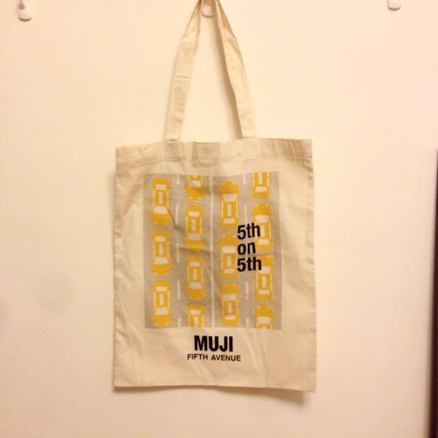 Muji無印良品 紐約第五大道旗艦限定 帆布袋