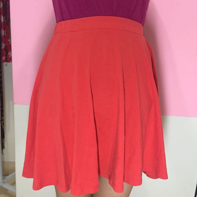 New Look, Mini Skirt, Red, Size 8.