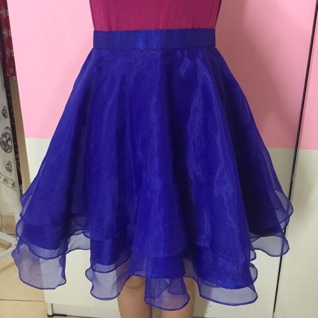 NYLA, Ruffle Skirt, Blue Electric Color, Size S.