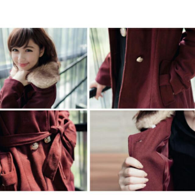 OB嚴選💕棗紅色排釦外套