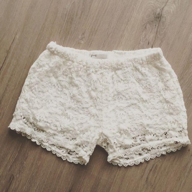 PAZZO 蕾絲短褲內搭褲