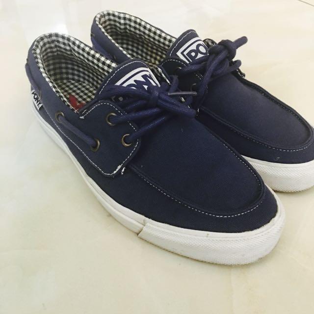 Pony懶人帆布鞋(Us8/Eur39)海軍藍色