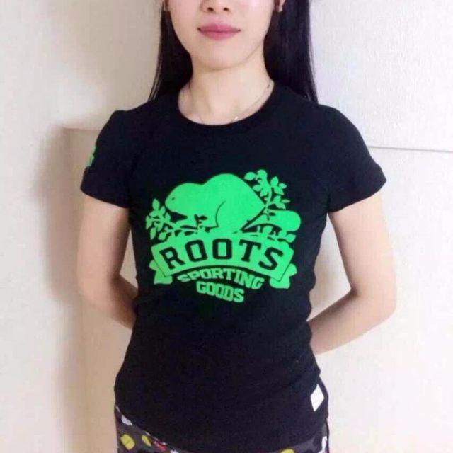 戰利品本舖//Roots 春夏新款 植絨海狸Roots Logo 圓領T