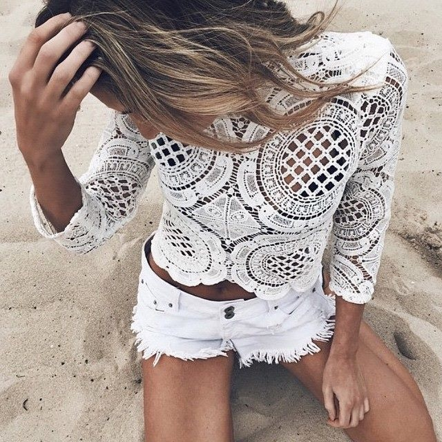 White Walls Crop Top