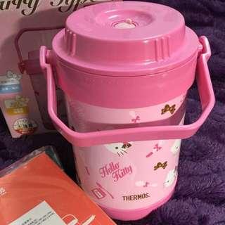 【THERMOS 膳魔師】全新品 Hello Kitty 不銹鋼真空燜燒鍋1.5L(RPF-20-PK)--三麗鷗正版授權