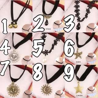 日韓復古 刺青蕾絲頸鍊 項鍊