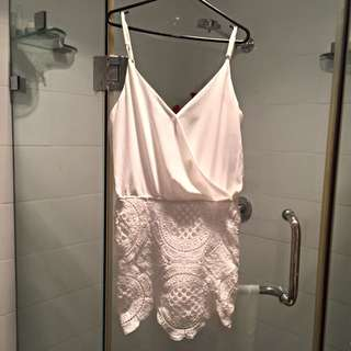 Low-back White Dress