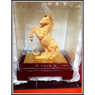 Brand New Gold Plate Horse