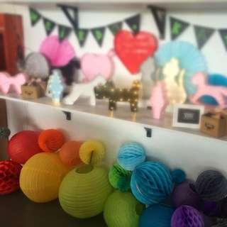 Paper Lanterns & Honeycomb Lanterns