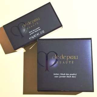 Cle de Peau Beaute Blush powder blush duo case + brush + refill 103 Peach Tulip
