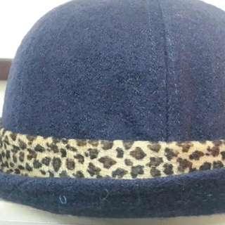藍豹紋貝童帽