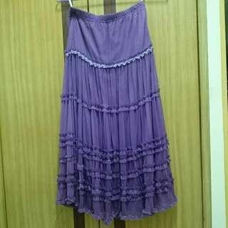 夢幻紫長裙