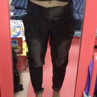 立體 摺痕 漸層 刷白 AB褲