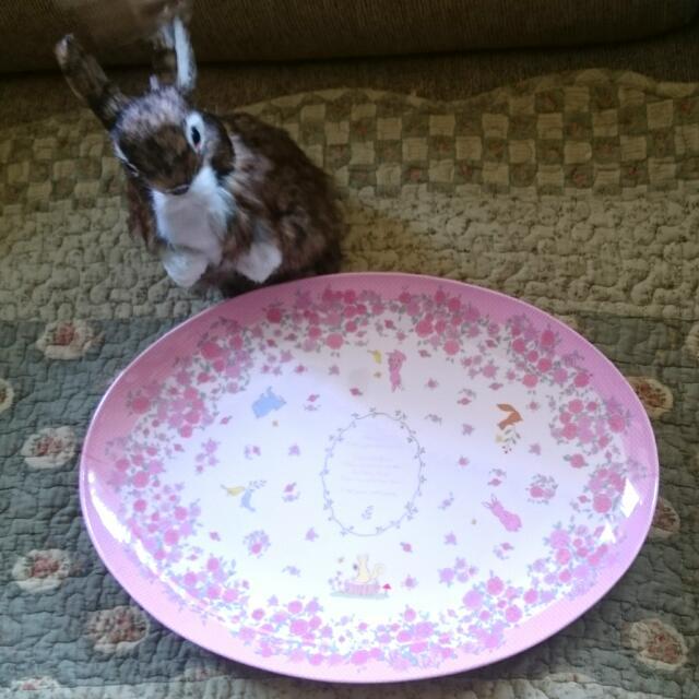 摔不破的粉紅碎花圓盤