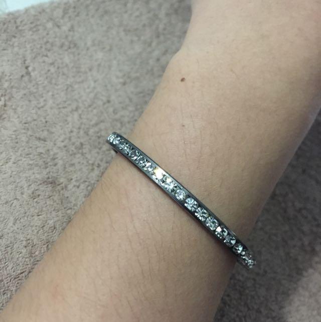 超閃鑽鐵灰色手環