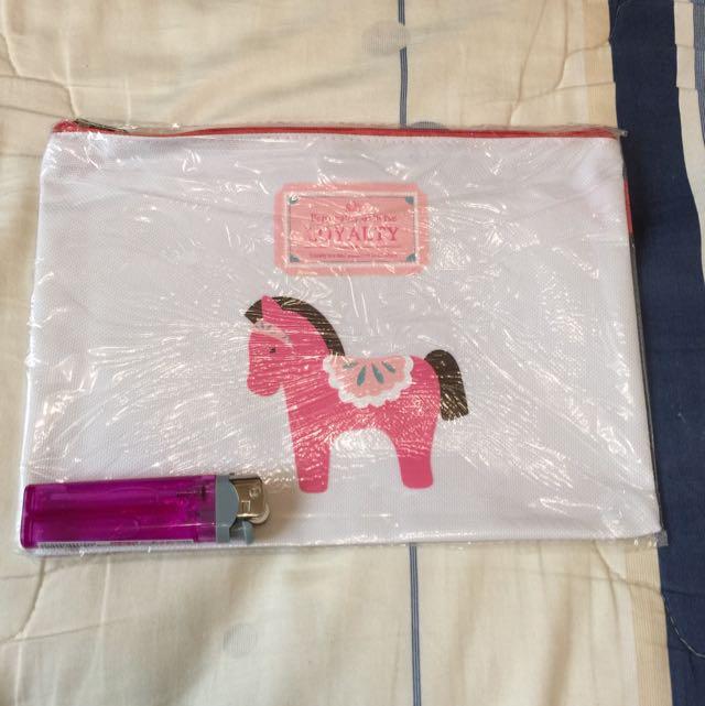 可愛小馬萬用包
