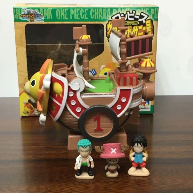 全新日本豪斯登堡帶回海賊王千陽號存錢筒(含運)