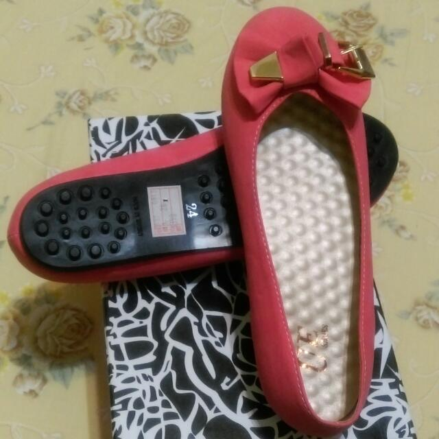 【全新】紅色娃娃鞋 24號