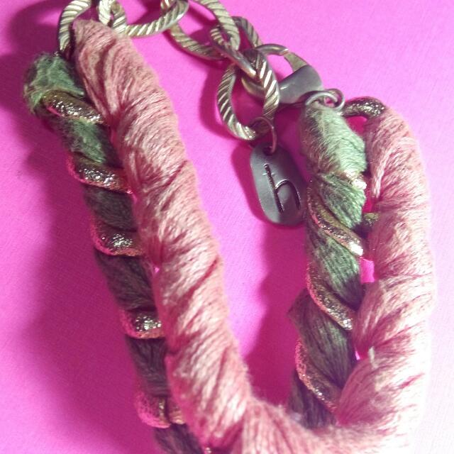 粉紅 青綠 特別設計雙編手鍊 文創商品