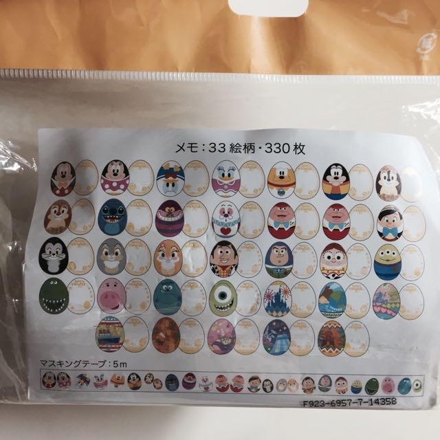 日本迪士尼 Disney 2015 復活節 便條紙 拆售 33張/組