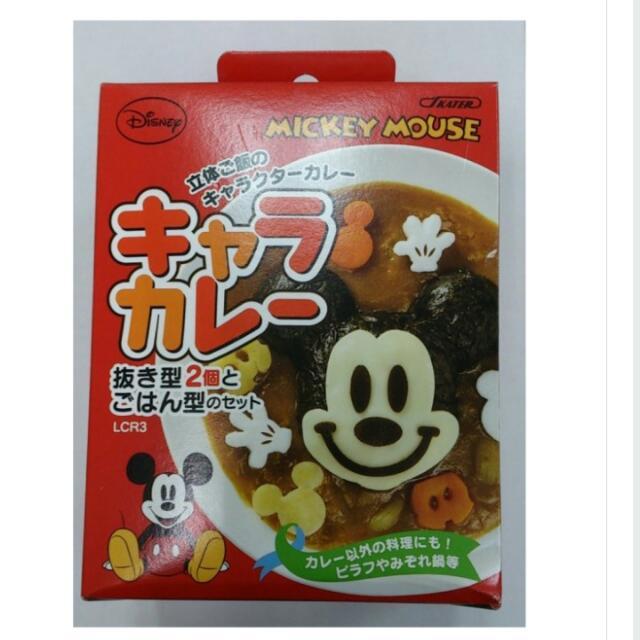 迪士尼 米奇大臉造型 飯糰壓模.蔬菜.起司.火腿.海苔模具 便當模具 模型 日本製