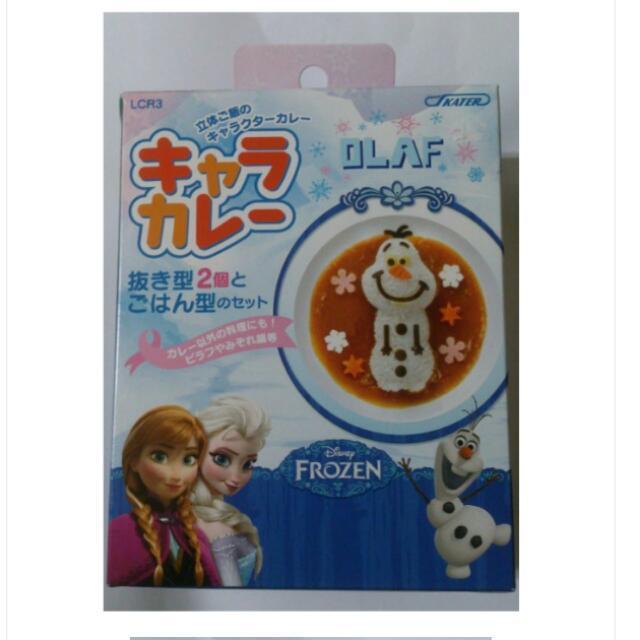 迪士尼 冰雪奇緣 雪寶造型 飯糰壓模.蔬菜.起司.火腿.海苔模具 便當模具 模型 日本製