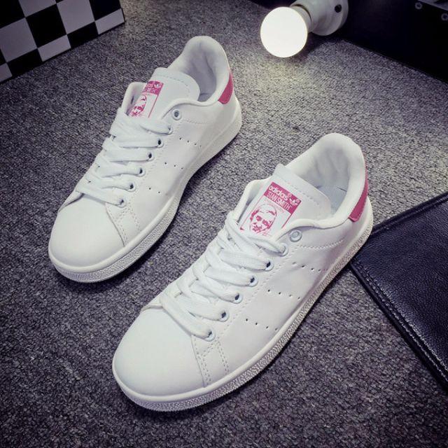 adidas 男鞋女鞋史密斯小白stan smith (粉色)