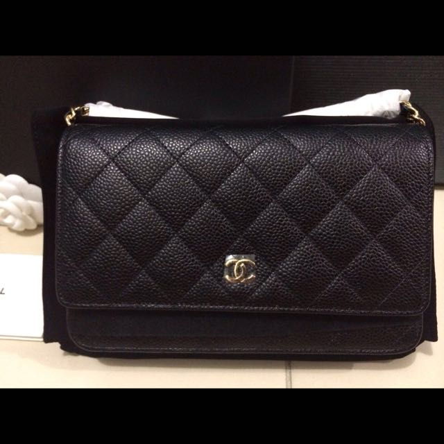 042b550f1796 Reserved - Chanel WOC black Caviar With Gold/silver Hardware, Luxury on  Carousell