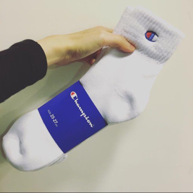 Champion 中筒襪 一組三雙