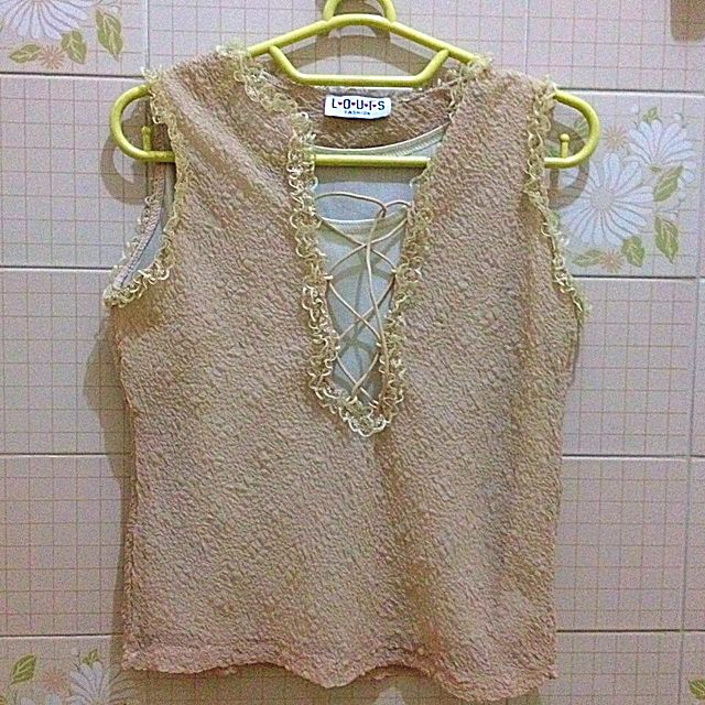 Cream Chiffon Top