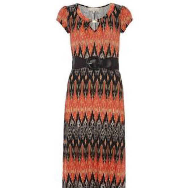 Dorothy Perkins Black Aztec Maxi Dress