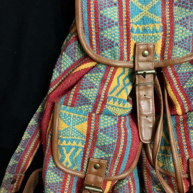 Forever 21 Colourful Tribal Navajo Backpack